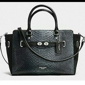 Coach Blake Carryall In Exotic  Embossed Leather